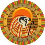 Egyptian god of sun Ra — Stock Vector #5960953