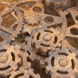 Mechanism of gears rusted — Stock Photo