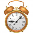 Bronze alarm clock — Stockfoto