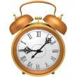 Bronze alarm clock — Stock Photo