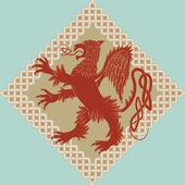 Medieval heraldic symbol — Stock Vector