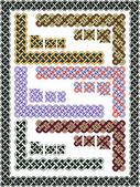 Keltische patronen voor een frame instellen — Stockvector