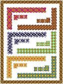 Set celtic patterns for a frame — Stock Vector
