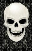 Human skull zombie — Stock Vector