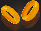 Wedding rings — Vector de stock