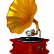 Ancient antiquarian gramophone — Stock Photo