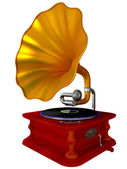 Ancient antiquarian gramophone — 图库照片