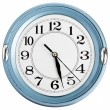 Stock Photo: Blue wall clock