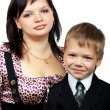 Stock Photo: Mother and son together