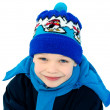 Стоковое фото: Cute boy dressed in winter clothes