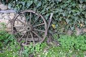 中世の木製の車輪 — ストック写真
