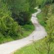 Winding Road in the Hilly Country - Stock Photo
