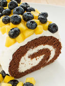 Berry roulade — Stock Photo