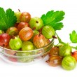 Gooseberries isolated on white background — Stock Photo