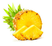 Fresh slice pineapple — Stockfoto