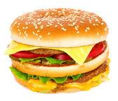 Cheeseburger isolated on white — Stock Photo