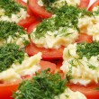 Tomatoes with Horseradish and Parsley — Stock Photo