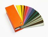 Open RAL sample colors catalogue — Stock Photo