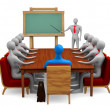 Group of 3d persons on the meeting - Stock Photo
