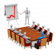 Group of 3d persons on the meeting — Stock Photo