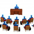 Group of persons on the briefing — Stock Photo #6251565