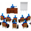 Group of persons on the meeting — Stock Photo
