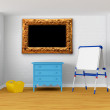 Kid's room with blackboard - Stock Photo