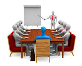 Group of persons on the marketing meeting — Stock Photo