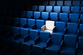 Auditorium with one reserved seat — Stockfoto
