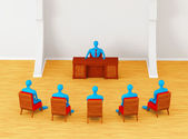 3D persons having business meeting — Stock Photo