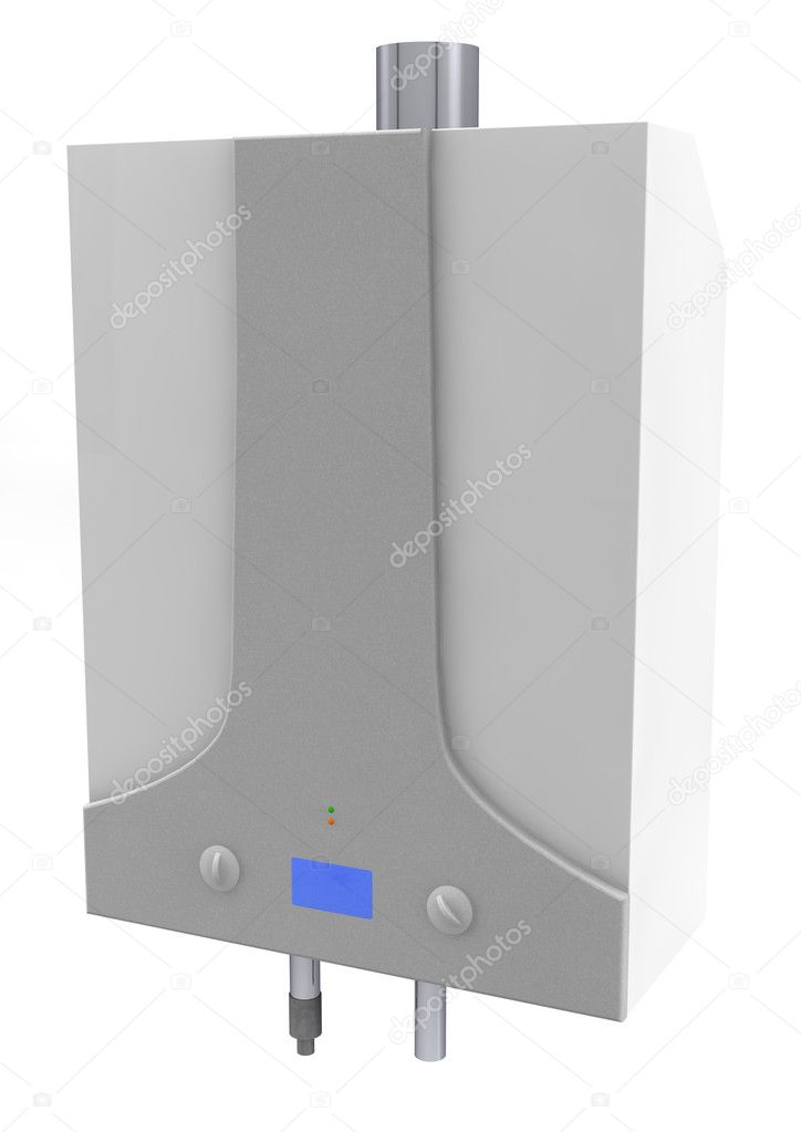 Gas boiler isolated on a white background  Stock Photo #6252221