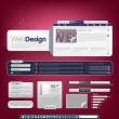 Stock Vector: Website template