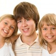 Teenager with her sisters — Stock Photo