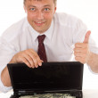 Stock Photo: Businessmwith laptop