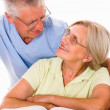 Elderly couple together — Stock Photo