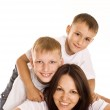 Mom with her two children — Stock Photo #5440825