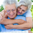 Nice old couple — Stock Photo