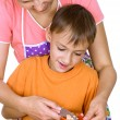 Mother and son prepares — Stock Photo #5441344