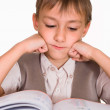 Handsome boy reading — Stock Photo #5441360