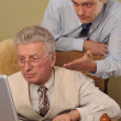 Two businessman working at the computer — Stock Photo #5441966