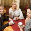 Beautiful girls chatting at tea — Stock Photo #5442022