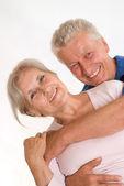Szczęśliwa para starszych — Zdjęcie stockowe