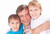 Dad with his sons — Foto de Stock
