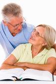 Elderly couple together — Stock Photo