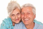 Nice elderly together — Stock Photo