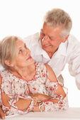 Beautiful elderly couple — Stock Photo