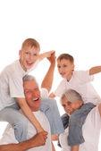 Família de quatro — Fotografia Stock