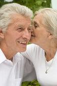 一緒に幸せな老夫婦 — ストック写真