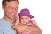 Ojciec z córką — Zdjęcie stockowe