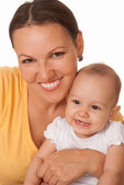 Nice mom and baby — Stock Photo